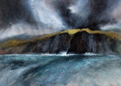 Day of squalls, North Uist sea cliffs (SOLD)