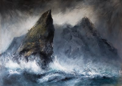 'A wild day - Stac Lee & Boreray, St Kilda (SOLD)