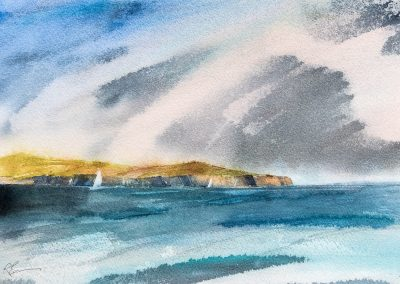 'Blustery day for a sail' Sound of Harris, Outer Hebrides (SOLD)