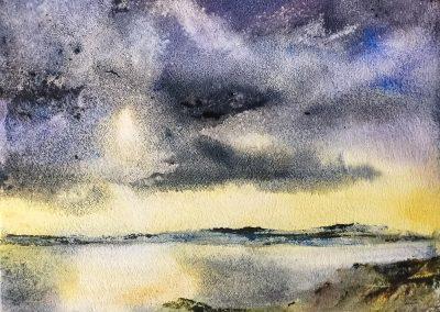 Hebridean Sky 3 (for sale £225, unframed)