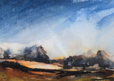 Sunset, Grimsay, North Uist (for sale £110, unframed)