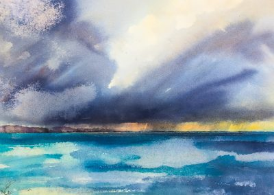Distant rain squall, Sound of Harris (SOLD)